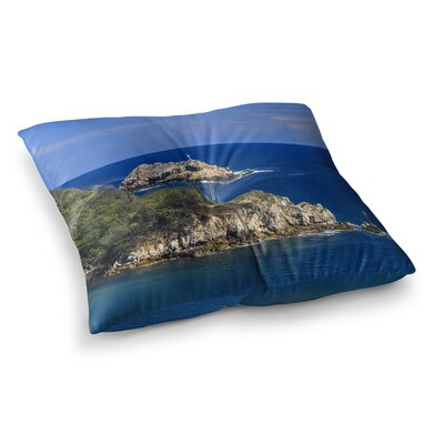 Nick Nareshni Stone Ocean Walls Photography Square Floor Pillow Size: 26 x 26