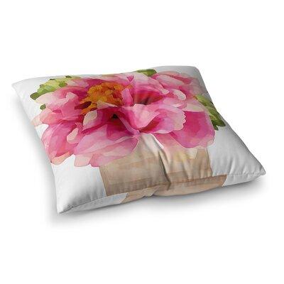 Oriana Cordero Peonies Square Floor Pillow Size: 23 x 23