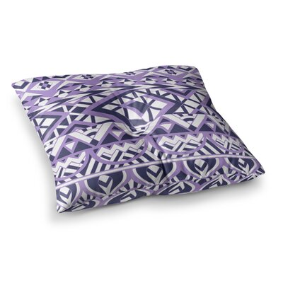 Pom Graphic Design Tribal Simplicity II Square Floor Pillow Size: 23 x 23, Color: Purple