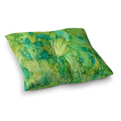 Rosie Brown Going Emerald Square Floor Pillow Size: 26 x 26