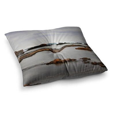 Sylvia Coomes Dark Sea Coastal Square Floor Pillow Size: 23 x 23