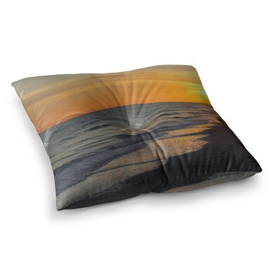 Philip Brown Sunset Beach Square Floor Pillow Size: 23 x 23