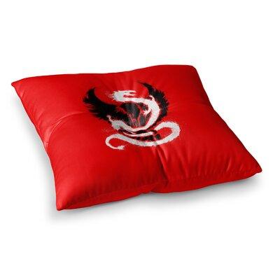BarmalisiRTB Eagle Dragon Illustration Square Floor Pillow Size: 26 x 26