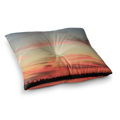 NL Designs Sunset Swirls Multicolor Photography Square Floor Pillow Size: 26 x 26