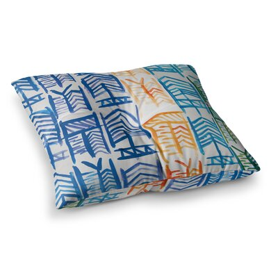 Theresa Giolzetti Quiver II Floor Pillow Size: 26 x 26, Color: Blue