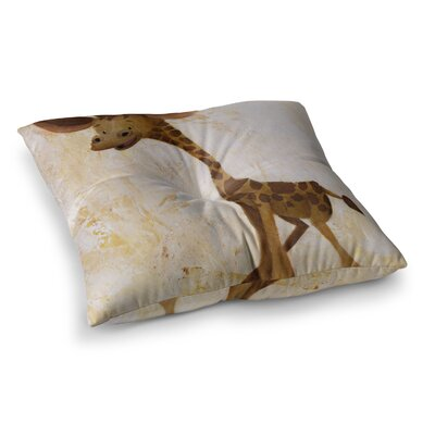Rachel Kokko Georgey The Giraffe Tan Square Floor Pillow Size: 23 x 23
