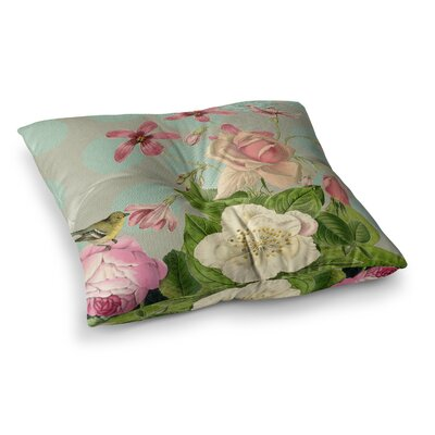 Suzanne Carter Vintage Garden Cush Flowers Square Floor Pillow Size: 23 x 23