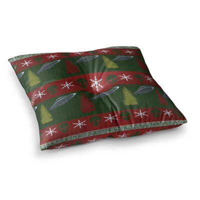 Alias Xmas Files Square Floor Pillow Size: 26 x 26