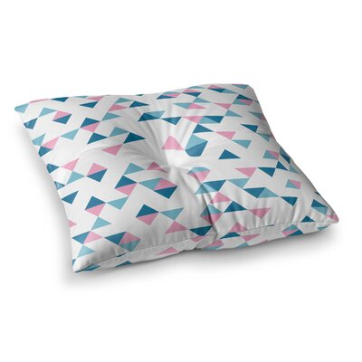 Project M Triangles Square Floor Pillow Size: 23 x 23, Color: Blue/Pink