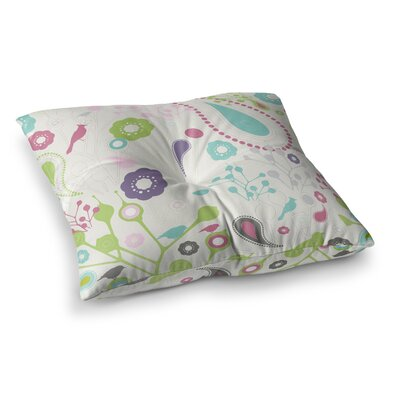 Nicole Ketchum Bird Song Square Floor Pillow Size: 26 x 26