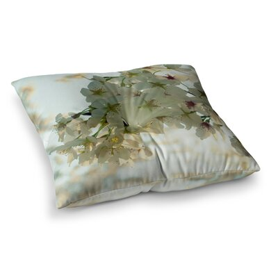 Robin Dickinson Cherry Blossoms Flower Square Floor Pillow Size: 23
