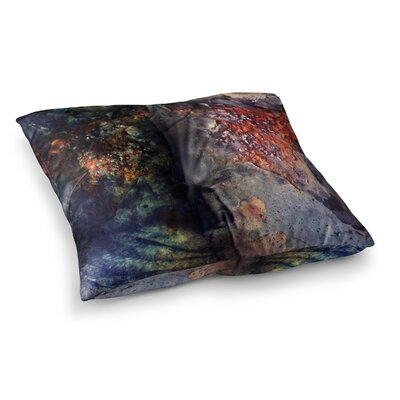Pia Schneider Abstraction No12 Mixed Media Square Floor Pillow Size: 26 x 26