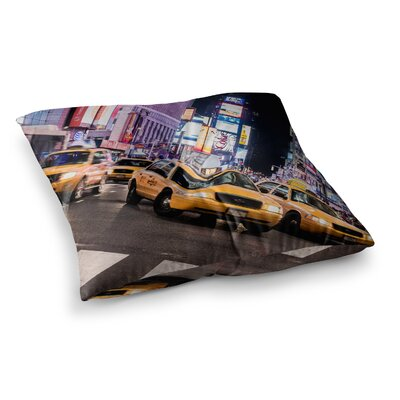 Juan Paolo Rush Hour Travel Urban Square Floor Pillow Size: 23 x 23