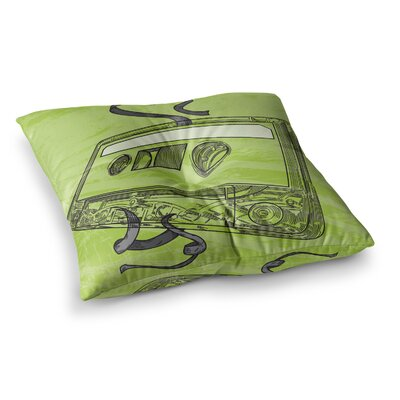 Sam Posnick Mixtape Square Floor Pillow Size: 23 x 23