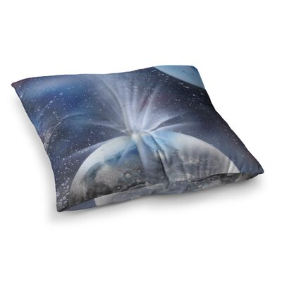 Infinite Spray Art Intergalactic Painting Square Floor Pillow Size: 23 x 23