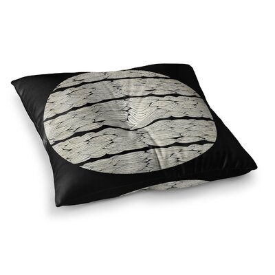 Pom Graphic Design La Luna Illustration Square Floor Pillow Size: 23 x 23