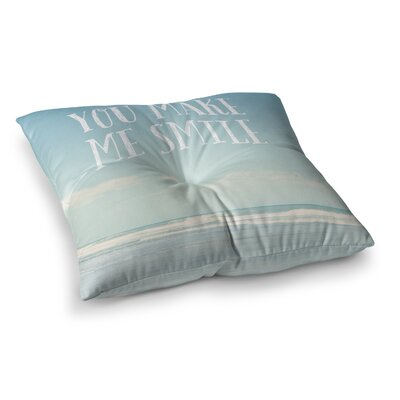Susannah Tucker You Make Me Smile Beach Sky Square Floor Pillow Size: 23 x 23