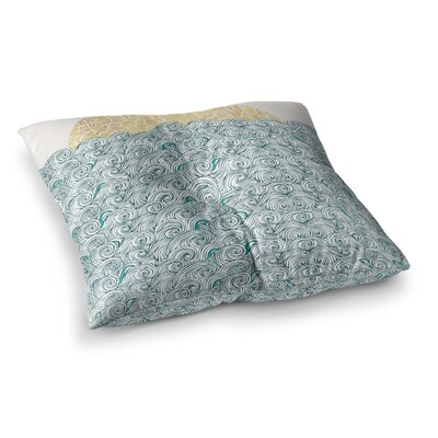 Pom Graphic Design Sunny Tribal Seas II Ocean Square Floor Pillow Size: 26 x 26