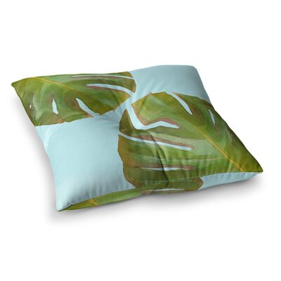 Oriana Cordero Tropico V2 Square Floor Pillow Color: Blue, Size: 23 x 23