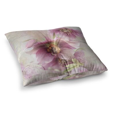 Sylvia Cook Hellabore Petals Square Floor Pillow Size: 26 x 26