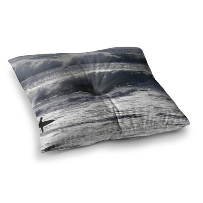Nick Nareshni Lone Surfer Square Floor Pillow Size: 23 x 23