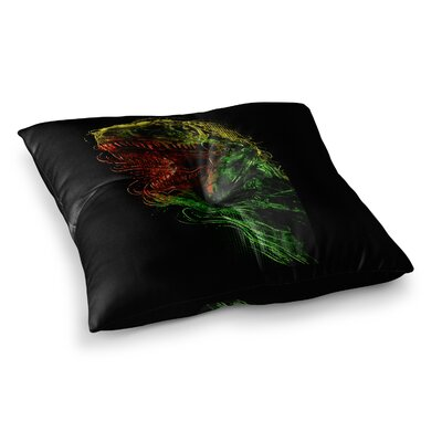 BarmalisiRTB Killing Machine Digital Square Floor Pillow Size: 23 x 23