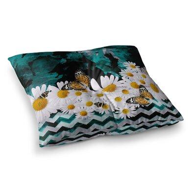 Shirlei Patricia Muniz Secret Garden Floral Square Floor Pillow Size: 23 x 23