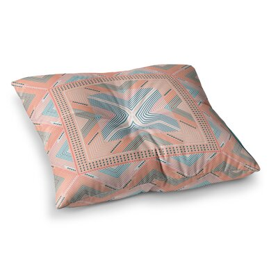 Nandita Singh Zigzag Digital Square Floor Pillow Size: 23 x 23