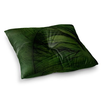 Robin Dickinson Feather Peacock Square Floor Pillow Size: 23 x 23