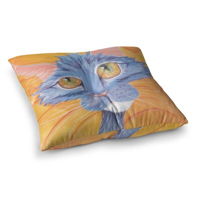 Padgett Mason Tell Me More Square Floor Pillow Size: 23 x 23