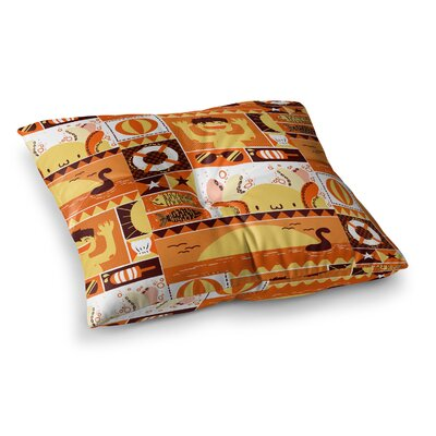 Tobe Fonseca Summer Seasonal Square Floor Pillow Size: 23 x 23