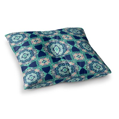 Victoria Krupp Alhambra Tile Illustration Square Floor Pillow Size: 26 x 26