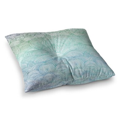 Pom Graphic Design Clouds in the Sky Square Floor Pillow Size: 26 x 26