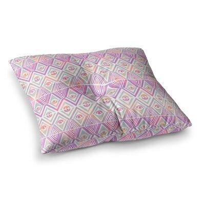 Pom Graphic Design Celebration Square Floor Pillow Size: 26 x 26, Color: Purple