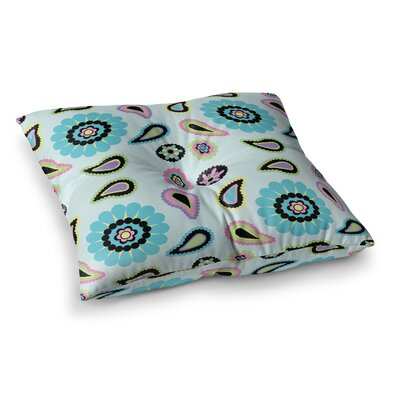 Nina May Paisley Candy Flower Square Floor Pillow Size: 26 x 26