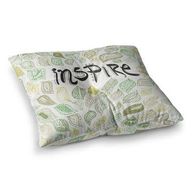 Pom Graphic Design Inspire Nature Square Floor Pillow Size: 23 x 23