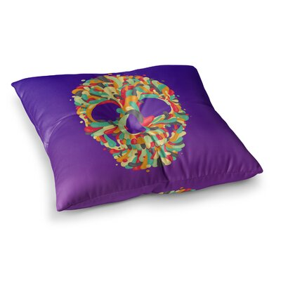 Roberlan Jelly Skull Square Floor Pillow Size: 23 x 23