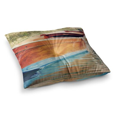 Sylvia Coomes Venetian Boat Square Floor Pillow Size: 26 x 26