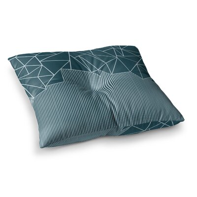 Project M Ab Lines Salt Digital Square Floor Pillow Size: 23 x 23, Color: Blue