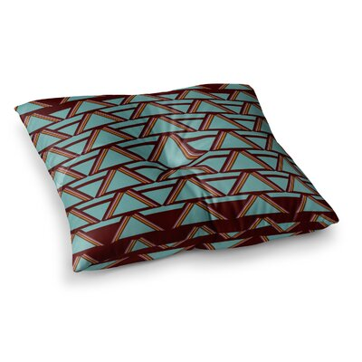 Nina May Deco Angles Square Floor Pillow Size: 26 x 26, Color: Blue/Brown