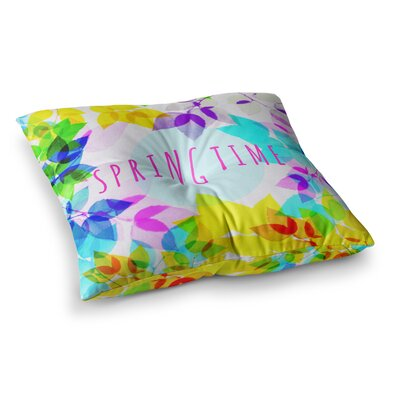 Sreetama Ray Seasons Springtime Leaves Square Floor Pillow Size: 23 x 23