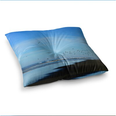 Robin Dickinson Beach Hair Coastal Square Floor Pillow Size: 23 x 23