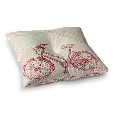 Sam Posnick Bicycle Square Floor Pillow Size: 26 x 26