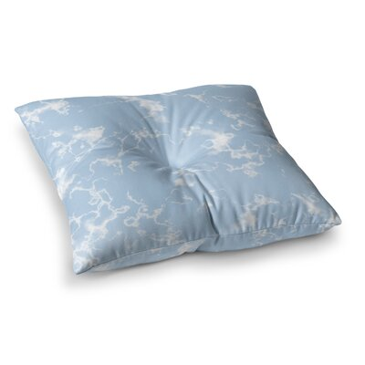 Vasare Nar Marble Clouds Square Floor Pillow Size: 23 x 23