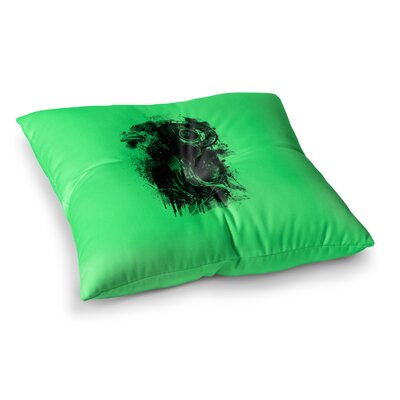 BarmalisiRTB Gasmask Abstract Square Floor Pillow Size: 26 x 26