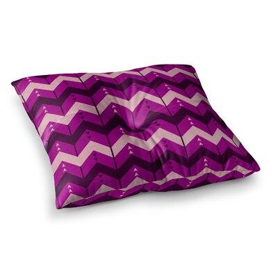 Nick Atkinson Chevron Dance Square Floor Pillow Size: 26 x 26, Color: Purple