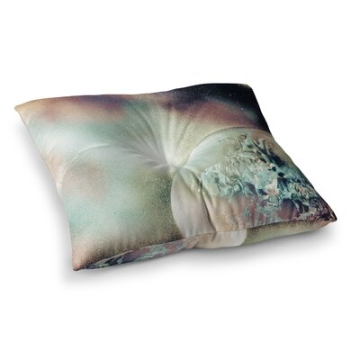 Infinite Spray Art Space Dust Space Planet Square Floor Pillow Size: 26