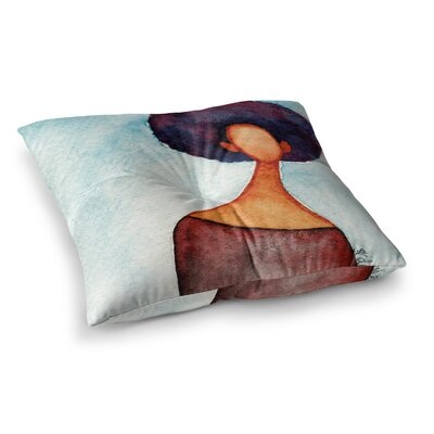 Stacey-Ann Cole a Sense of Self Square Floor Pillow Size: 23 x 23