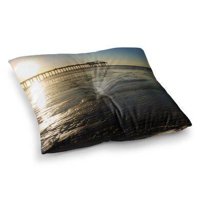 Nick Nareshni Sun over Scripps Pier Square Floor Pillow Size: 26 x 26