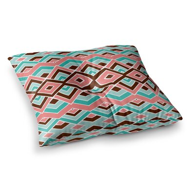Pom Graphic Design Eclectic Square Floor Pillow Size: 26 x 26